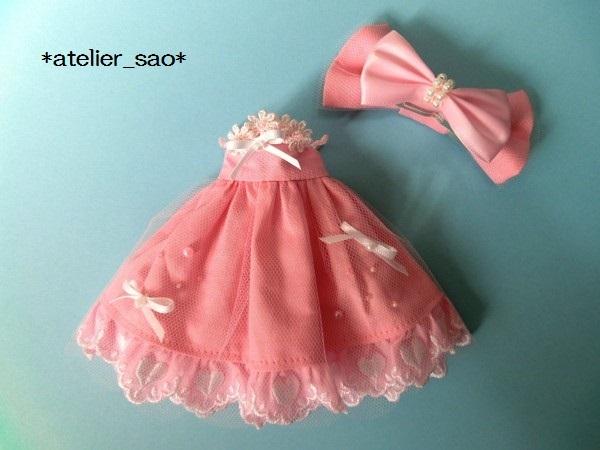 ネオブライス◆ハートレースのピンクドレス3