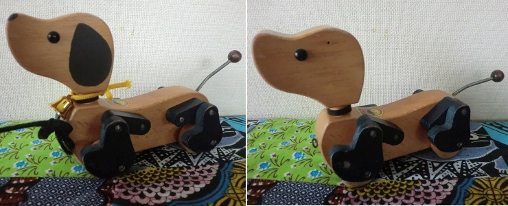 リメイク 犬 おもちゃ 木