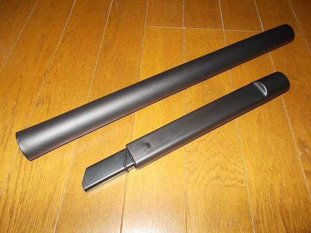 ツインバード TWINBIRD ハンディークリーナー ハンディージェットサイクロン EX HC-EB51GY、延長パイプとやわらか伸縮すき間ノズル