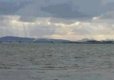 満潮時の和白干潟