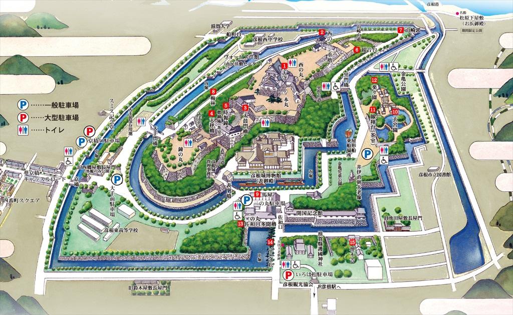 彦根城案内図