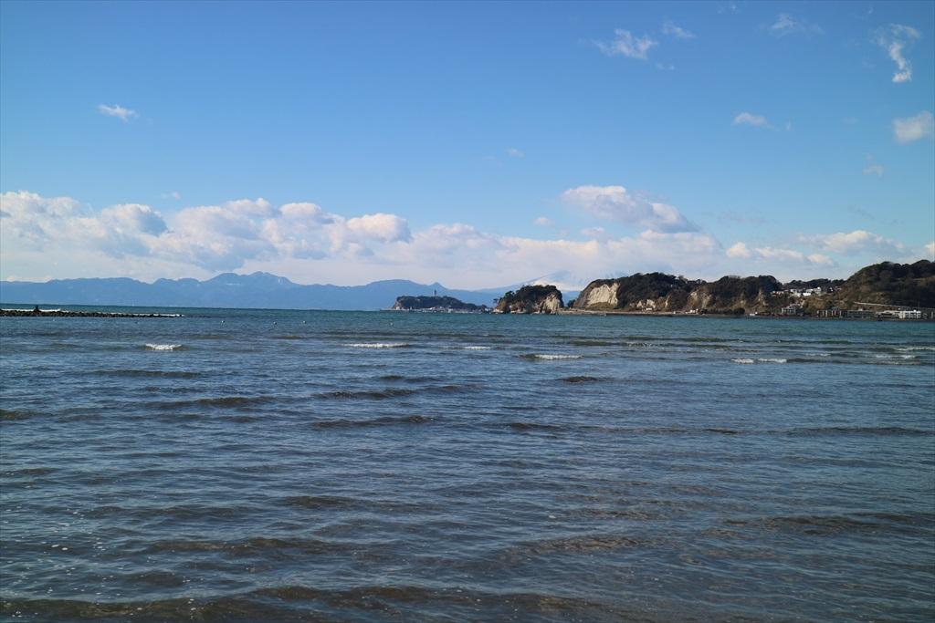和賀江島と江ノ島と富士山とが揃い踏みならば最高なのだが