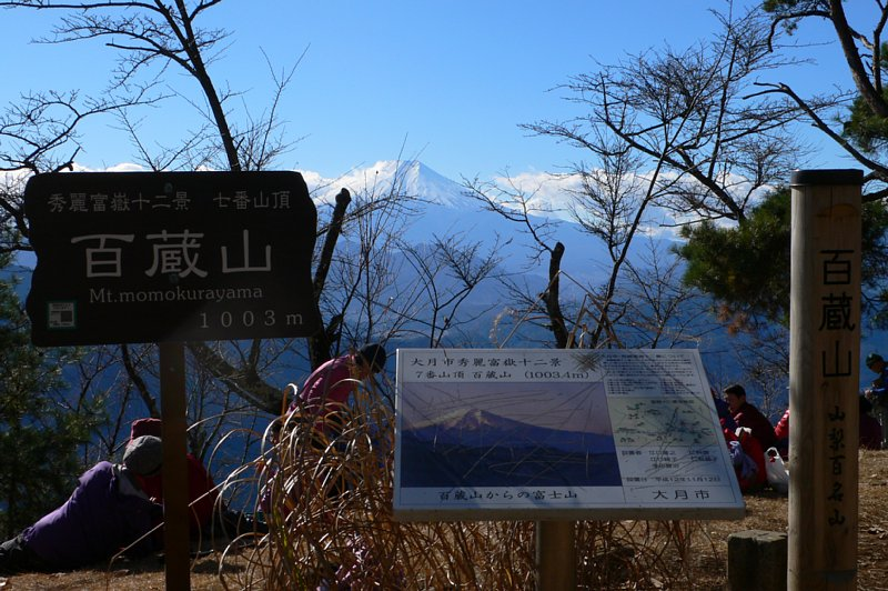 頂上からの富士山