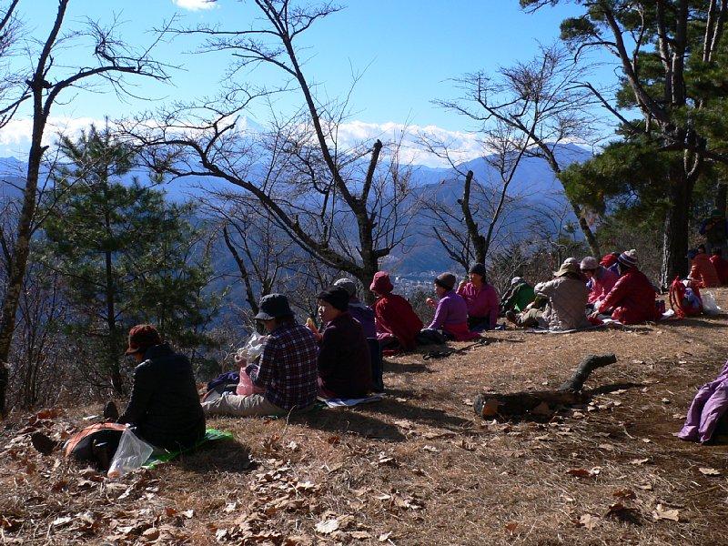 富士山を見て昼食