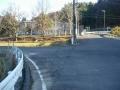 161203旧野殿童仙房小学校跡の交差点を左へ