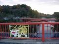 161210信貴山の上側の赤い橋を初めて渡ってみる