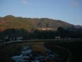 161224和束の山あいにあたる朝日