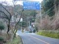 170204千早大橋、新千早トンネルの分岐を左へ
