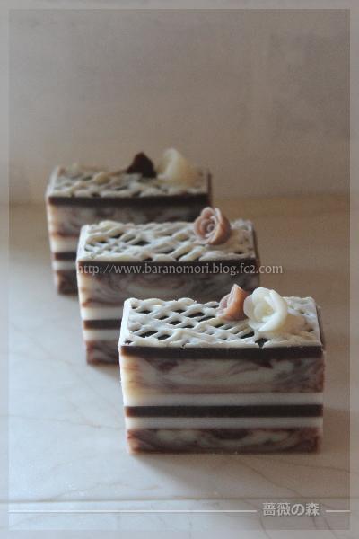 チョコレート石けん 手作り石けん ケーキ バレンタイン 20160116