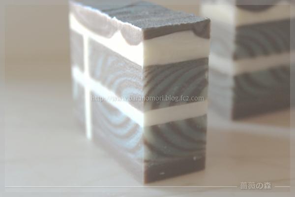 チョコレート石けん 手作り石けん デザイン ラメ バレンタイン 20160116