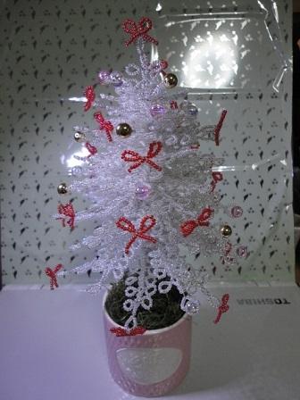 20mビーズのホワイトクリスマス③