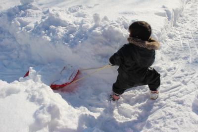 スキーの練習4