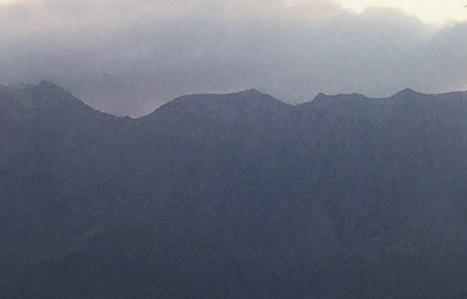 桜島冠雪2