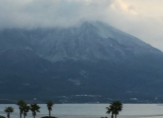 冠雪桜島2