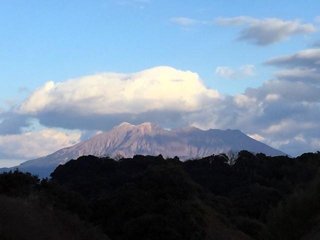 冠雪桜島3