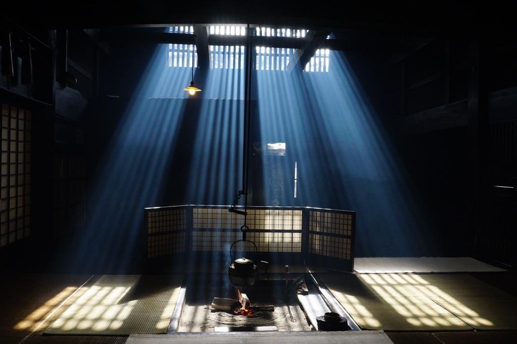 妻籠宿の光芒