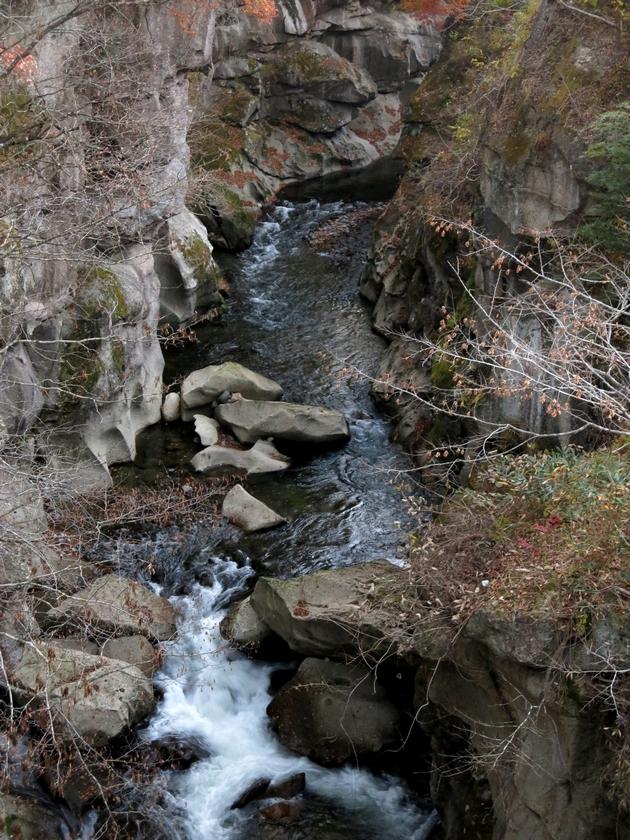 磊々峡 2016 11 18  覗き橋から 3 6955