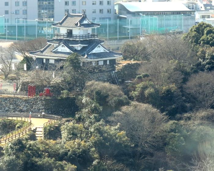 レストランからの眺め 浜松城公園 2017 2 1 ホテル「コンコルド」 7491