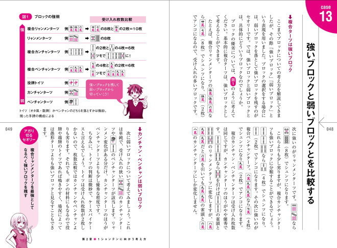 麻雀技術の教科書 効率的な打ち方 (井出 洋介・小林 剛・著)