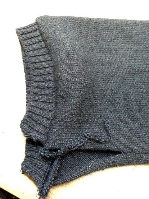 ニットボレロ袖口⑥