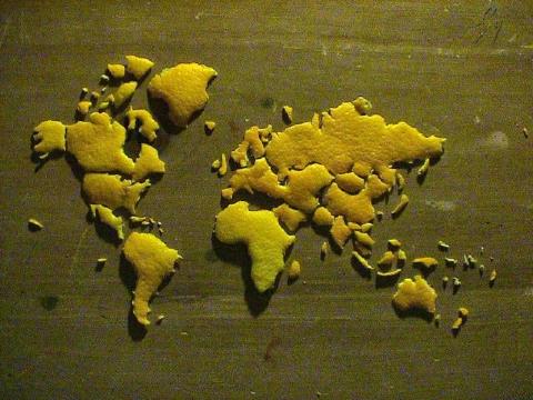 みかん世界地図1