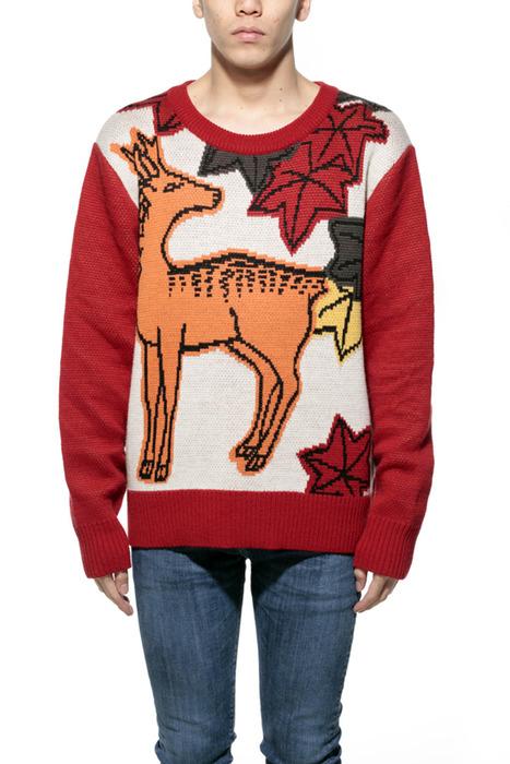 鹿に紅葉 花札セーター