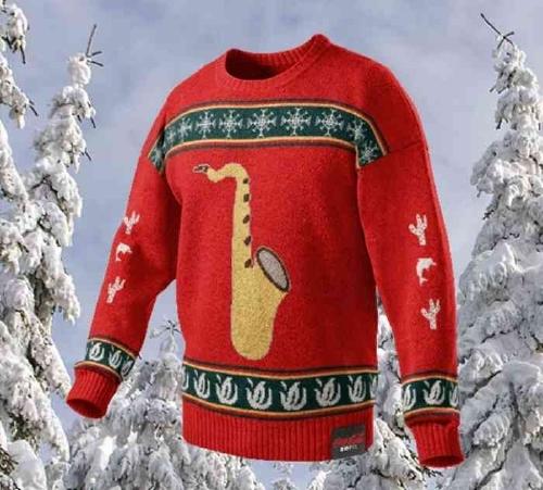 サックスのセーター