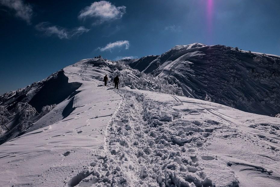 2017.02.04荒島岳もちがかべ~頂上11
