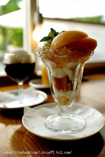 NASU SHOZO CAFE◇桃のパフェ
