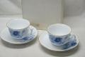 大倉陶園 ブルーコスモス コーヒー碗皿