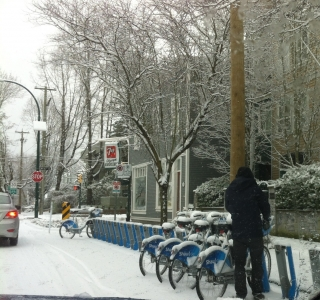 Renting a bike in snow