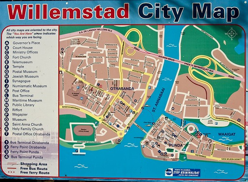 Willemstad city map