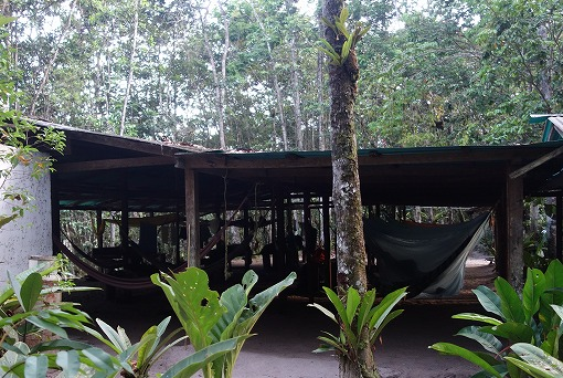 翌朝のキャンプサイト