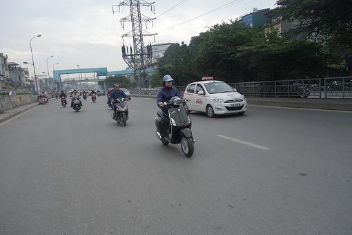 バイクで移動