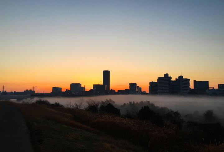 鶴見川の川霧