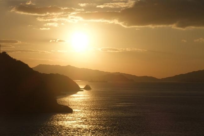 安芸灘大橋からの夕景