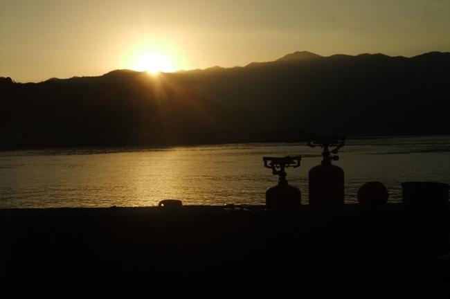 かきしま海道キャンプツーリング朝