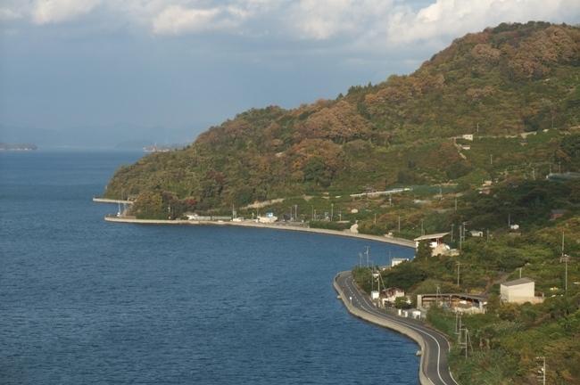 とびしま海道の橋からの風景