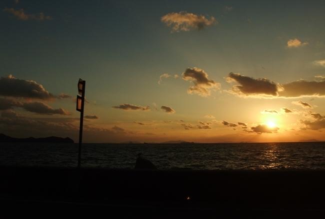 とびしま海道の夕陽