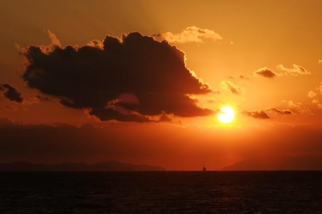 とびしま海道の夕日その2