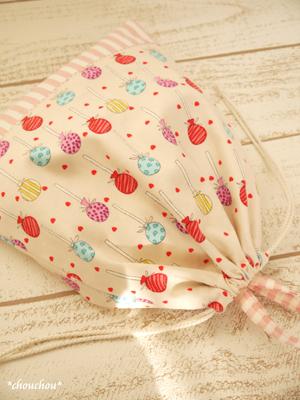 ピンク 給食袋5