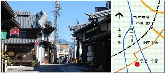 中津川宿マップ
