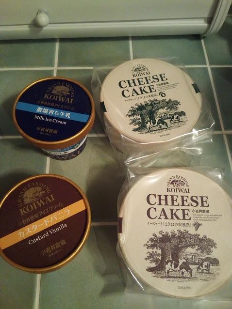 チーズケーキとアイスクリーム