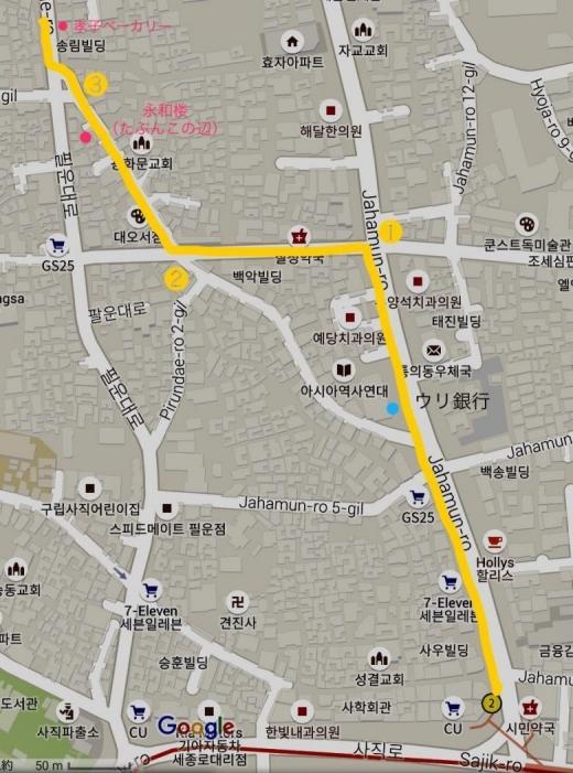 170115孝子ベーカリー地図