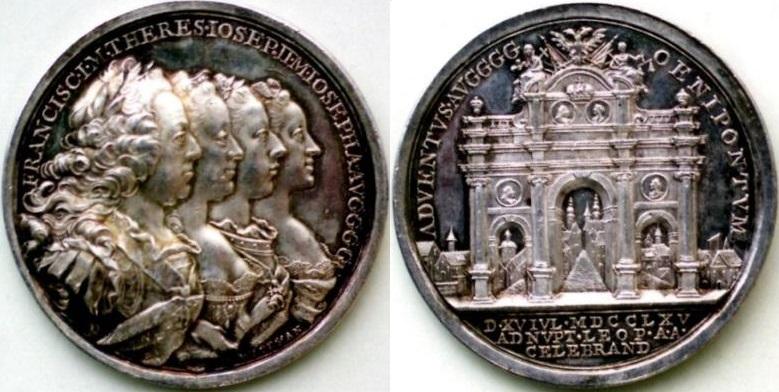 神聖ローマ帝国 銀メダル 1760年