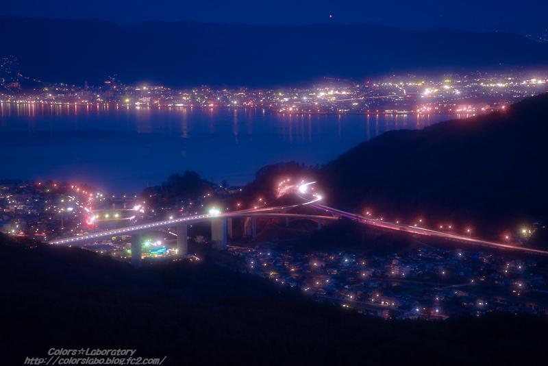 諏訪湖夕景 4