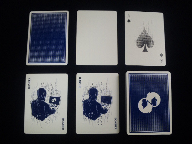 Blue Bomber Playing Cards (5)
