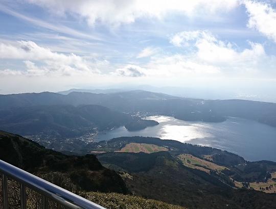 山頂から見た芦ノ湖