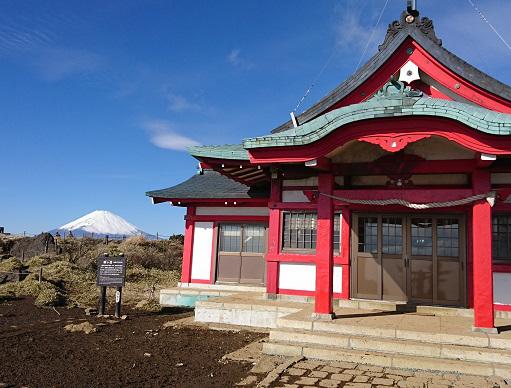 箱根神社元宮と富士山