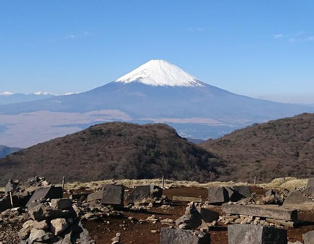 箱根駒ケ岳山頂から見る富士山